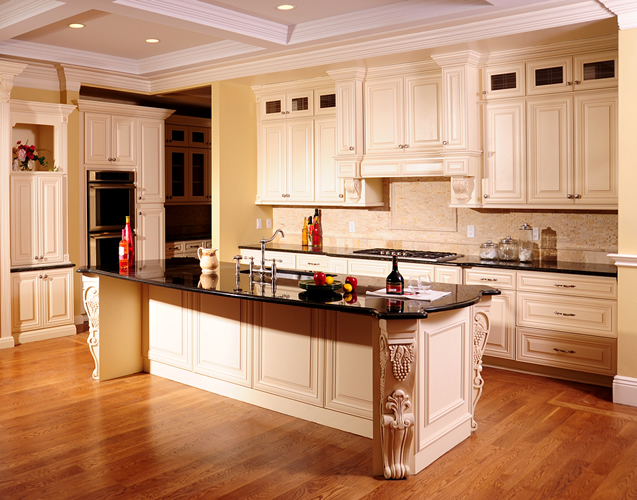Kitchen cabinets cream maple craftsmen network for Cream kitchen cupboards