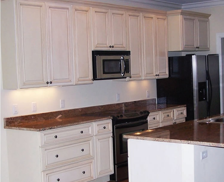 kitchen cabinets off white glazed craftsmen network